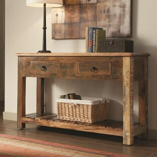 Katrina Reclaimed Wood Console Table ByWorld Menagerie