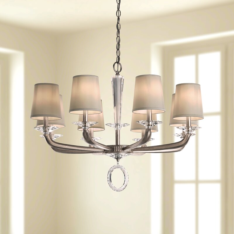 Schonbek Emilea 8 Light Shaded Classic Traditional Chandelier Wayfair