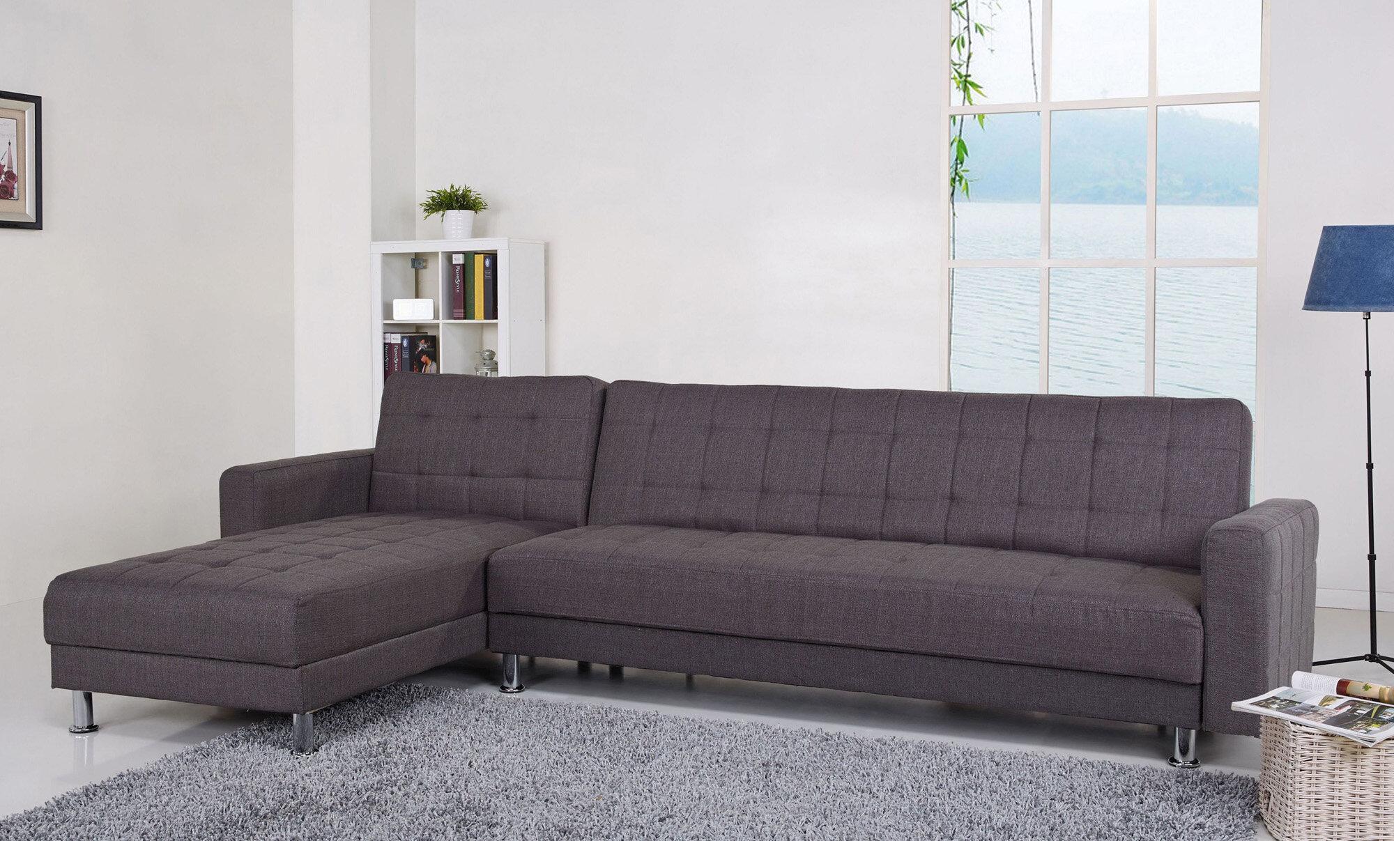 Excellent Rosina Reversible Sleeper Sectional Inzonedesignstudio Interior Chair Design Inzonedesignstudiocom