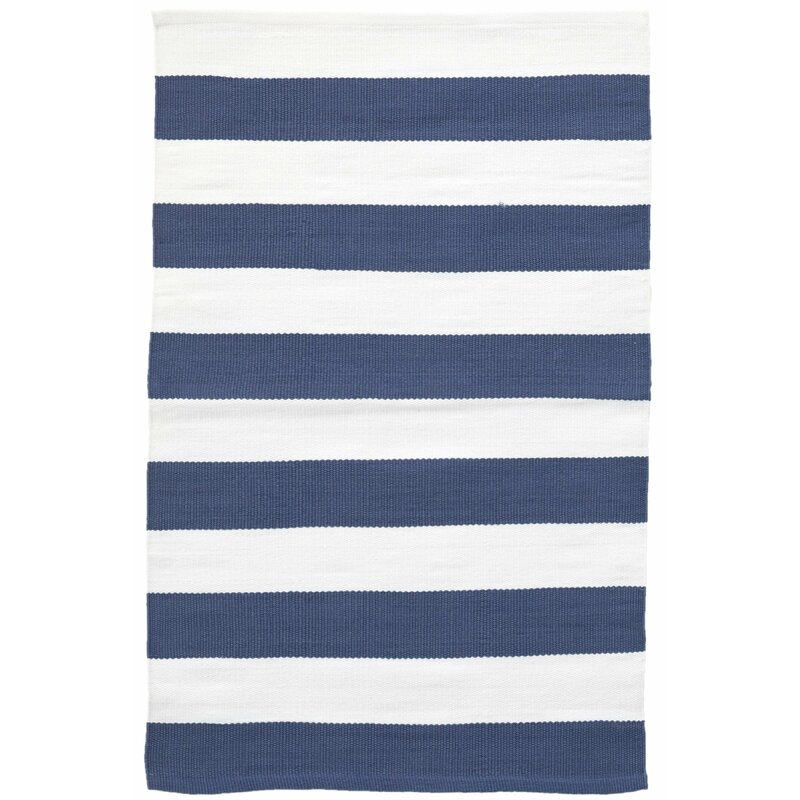 Dash And Albert Rugs Catamaran Striped Blue White Indoor Outdoor Area Rug Reviews Wayfair