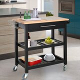 Rolling Mobile Kitchen Cart by Prep & Savour