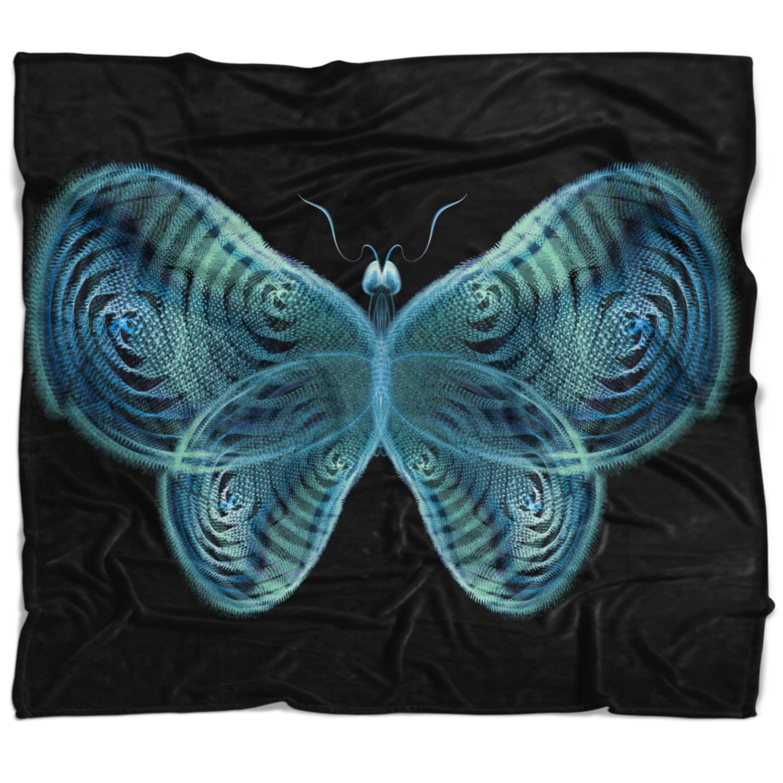 East Urban Home Abstract Fractal Butterfly Blanket Wayfair
