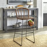 Barrister Farmhouse Wirebase 30 Bar Stool by Gracie Oaks