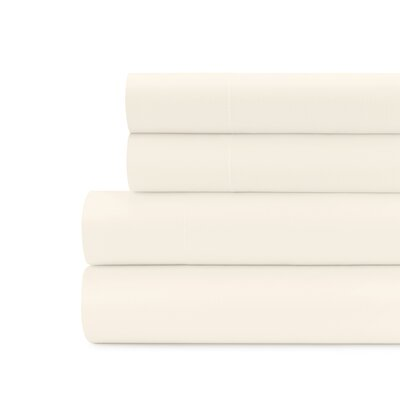 Briarwood Home 100% Cotton Solid Percale Sheet Set Size: California King, Color: Beige