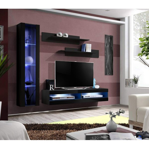 Logue Wall Mounted Floating Entertainment Center For Tvs Up To 70