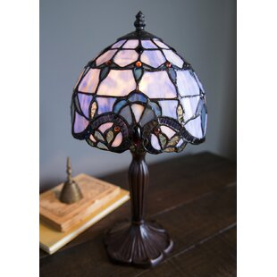 Stained glass table lamps wayfair tara stained glass 14 table lamp aloadofball Gallery