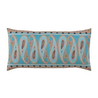 Highland Dunes Connors Embroidered Cotton Lumbar Pillow Wayfair