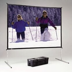 Fast Fold Deluxe Black Portable Projection Screen