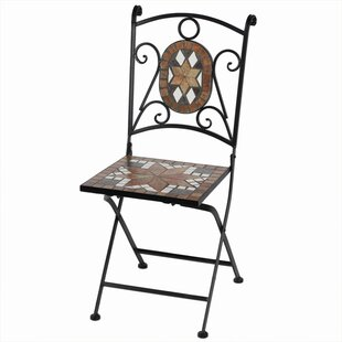 Willmon Mosaic Metal Folding Patio Dining Chair
