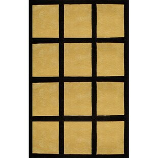 Compare prices Bright Yellow/Black Window Blocks Area Rug By American Home Rug Co.