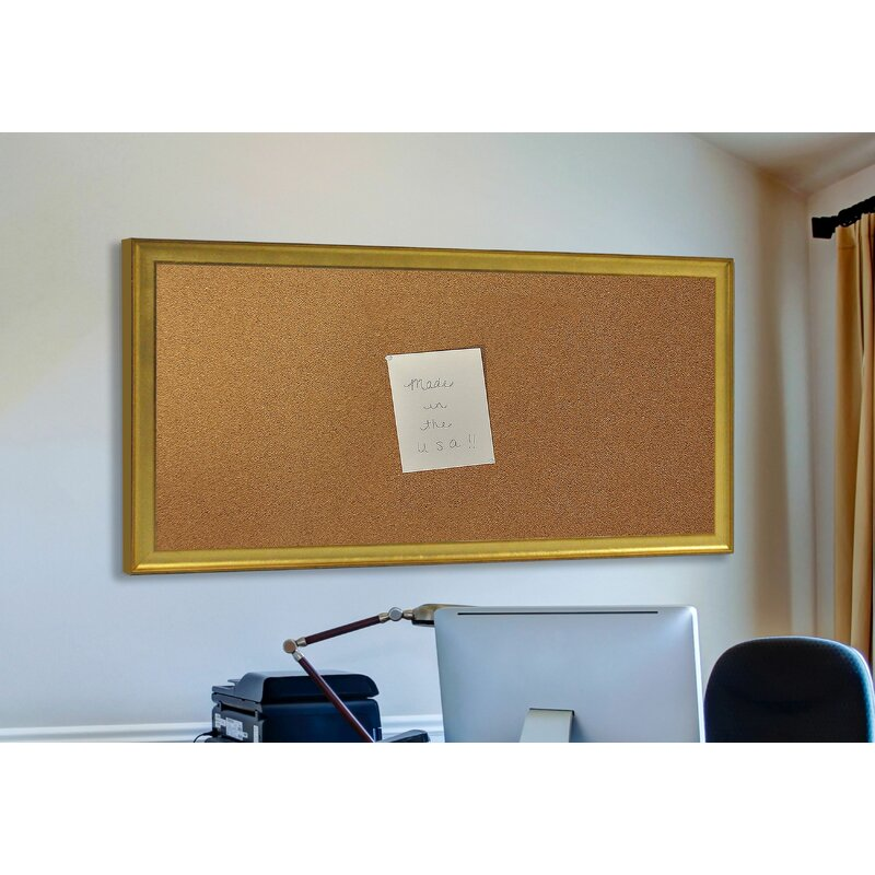 Charlton Home Aristarchus Wall Mounted Bulletin Board Wayfair