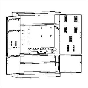 84 H x 60 W x 22 D Foundry Storage Cabinet by Shain
