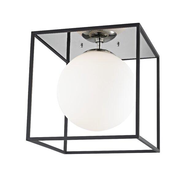 Katsikis 1 Light Unique Square Semi Flush Mount Reviews Joss Main