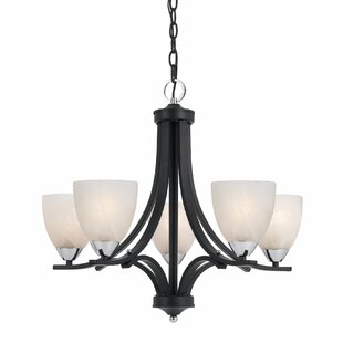 Crofoot 5-Light Shaded Chandelier