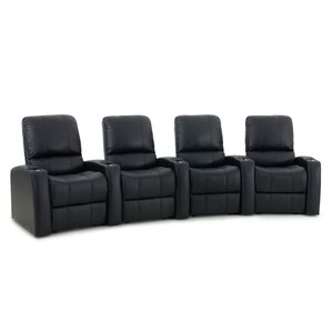 Leather Home Theater Recliner (Row of 4) by Latitude Run