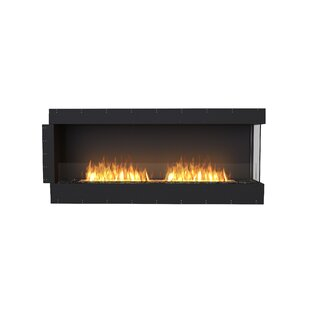 FLEX68 Right Corner Wall Mounted Bio-Ethanol Fireplace Insert by EcoSmart Fire