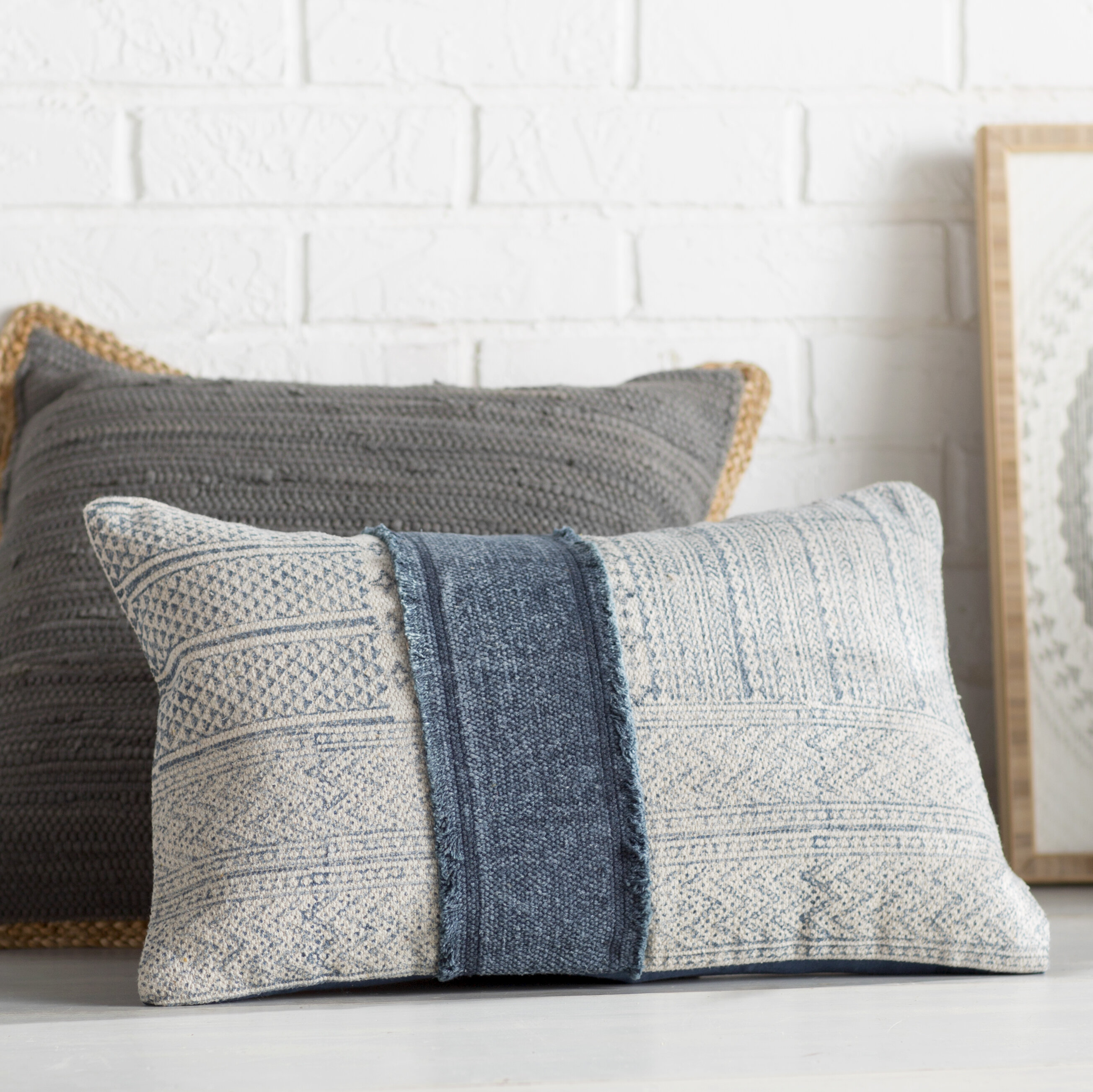 ivory cream lumbar throw pillows