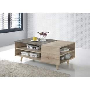 Lapidge Wooden Modern Coffee Table with Storage