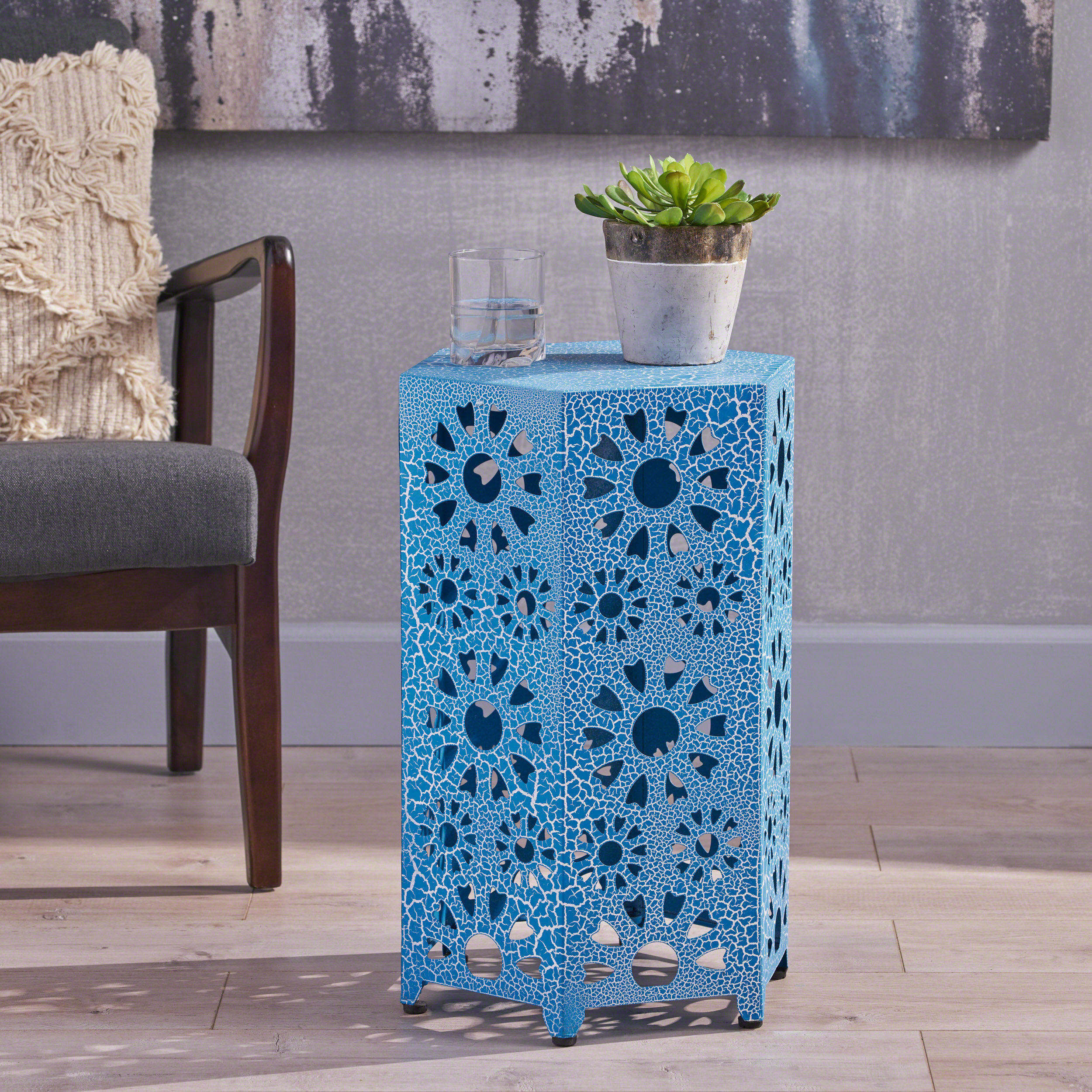 Blue Hexagon End Side Tables You Ll Love In 2021 Wayfair