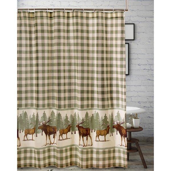 Moose Shower Curtain Wayfair
