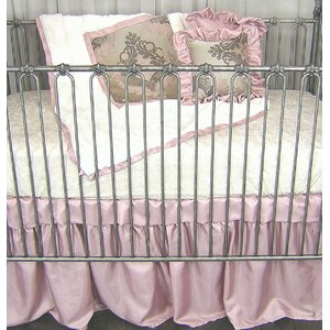 Pink Champagne Fitted Crib Sheet
