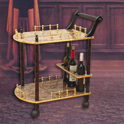 2-Tier Bar Cart Uniquewise