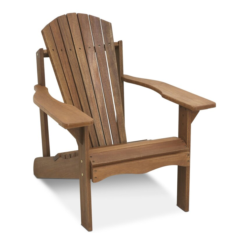 Langley street arianna teak hardwood adirondack patio for Outdoor furniture langley