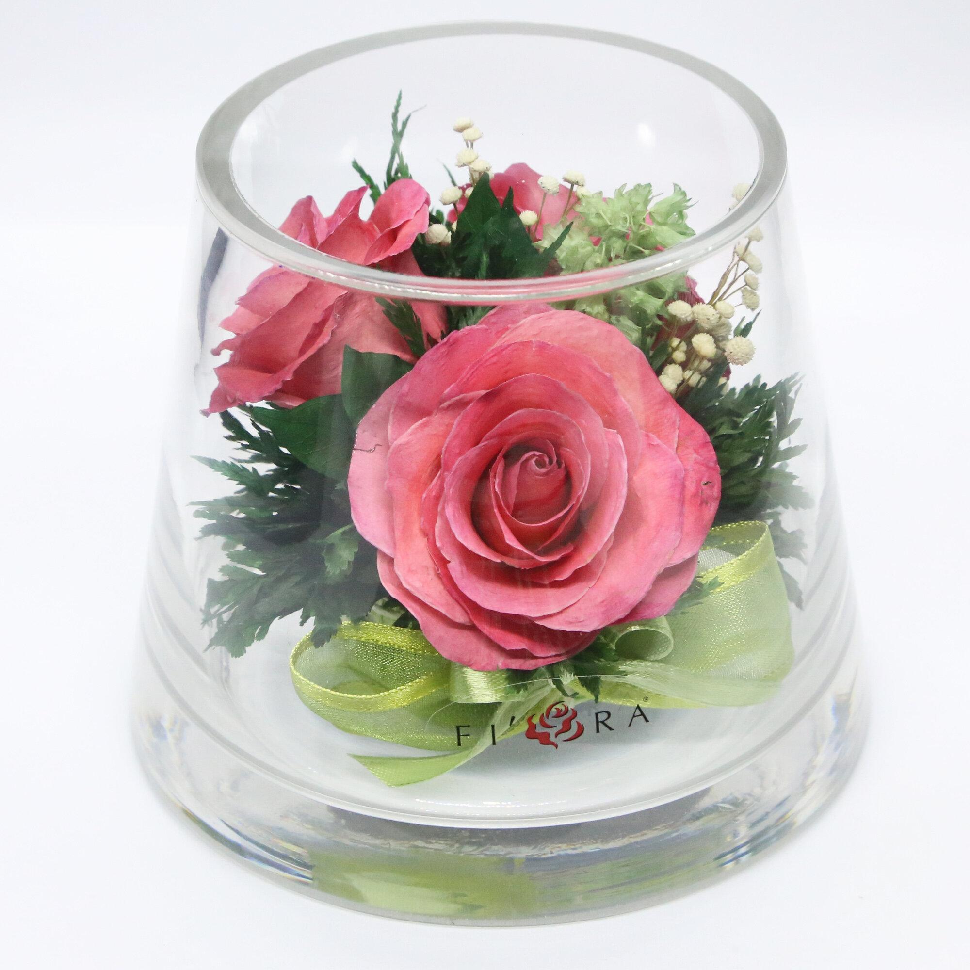 Charlton Home Roses Floral Arrangements And Centerpiece In Decorative Vase Wayfair