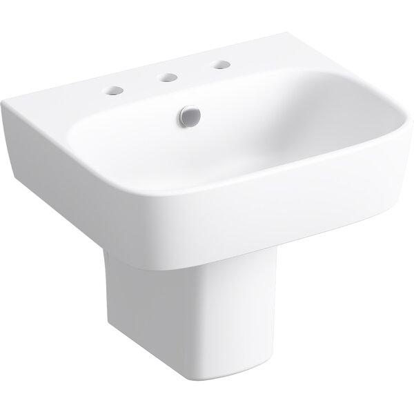 Kohler Moderne Wall Mount Pedestal Bathroom Sink Wayfair