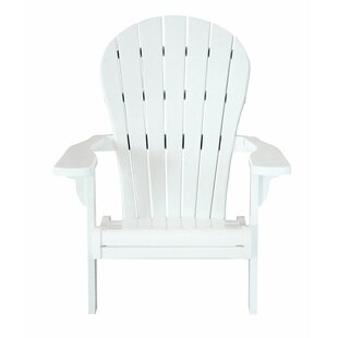Bart Teak Adirondack Chair by Highland Dunes