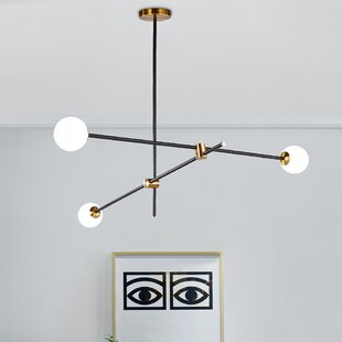 Black Finish Scandinavian Chandeliers You Ll Love In 2020 Wayfair