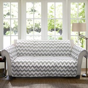 Chevron Box Cushion Sofa Slipcover by Latitu..