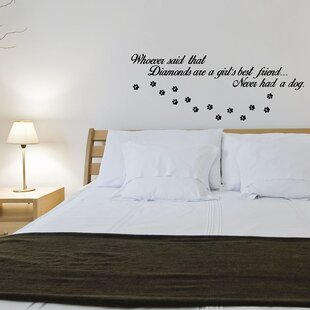 Dogs Over Diamonds Wall Decal