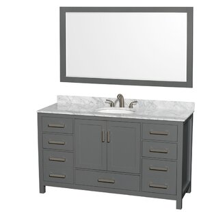 Sheffield 60 Single Bathroom Vanity Set with Mirror ByWyndham Collection
