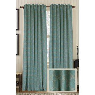 Zen Geometric Semi-Sheer Rod Pocket Single Curtain Panel