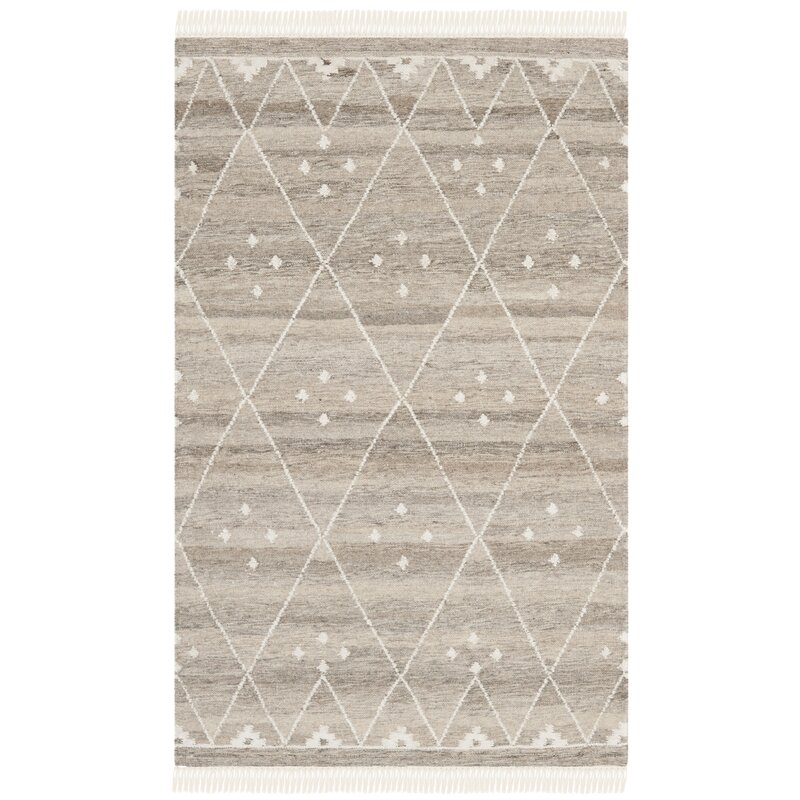 Aldergrove Handwoven Wool Natural/Ivory Area Rug