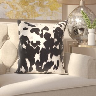 Margarida Cow Hide Print Throw Pillow (Set of 2)