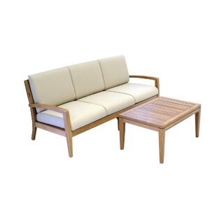 Ohana 2 Piece Teak Sofa Seating Group With Cushions by Ohana Depot Today Sale Only
