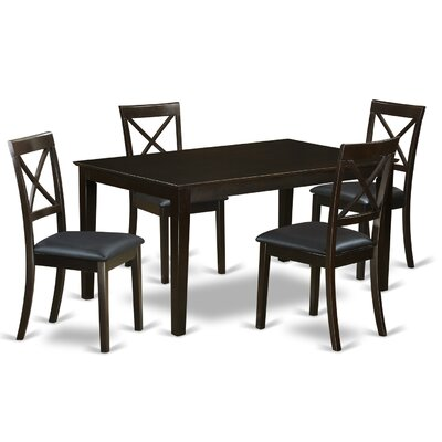 Smyrna 5 Piece Dining Set Charlton Home Color: Cappuccino