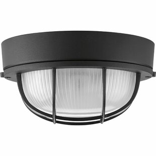 Price Check Sedwick 1-Light Outdoor Flush Mount By Breakwater Bay