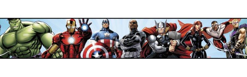 Walt Disney Kids Ii Avengers 6 Border Wallpaper