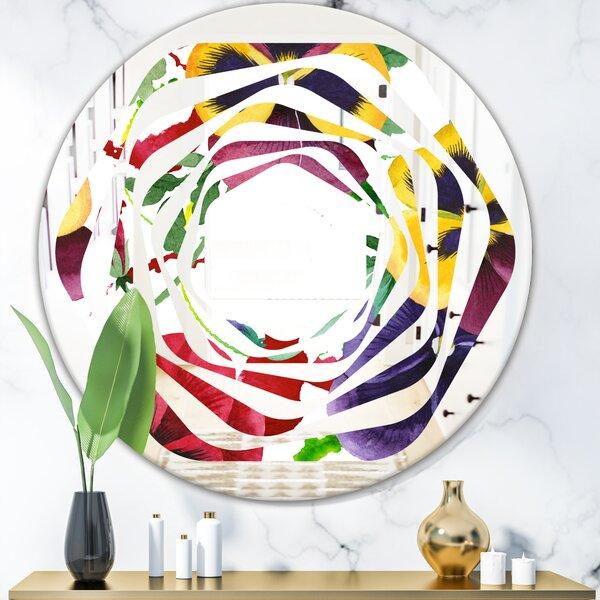 East Urban Home Whirl Floral Botanical Viii Cottage Americana Frameless Wall Mirror Wayfair