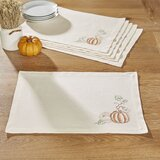 Perley Pumpkin Etched 19 Cotton Placemat (Set of 6)