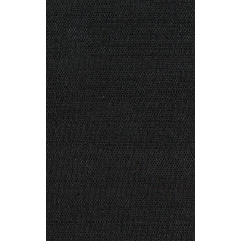 "17 Stories Cosmo 24 L x 36"" W Plain Sisals Wallpaper Roll  Color: Black"
