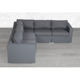 Fritts Modular 5 Piece Sectional Seating Group with Cushions