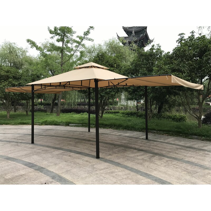 Double Roof 11 Ft W X D Steel Patio Gazebo