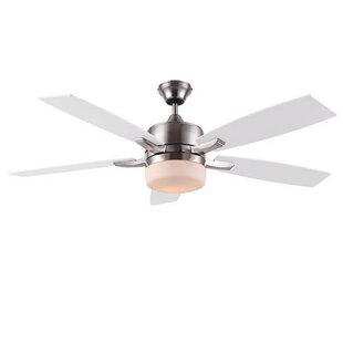 Affordable 52 Odom 5 Blade LED Ceiling Fan with Remote By Orren Ellis