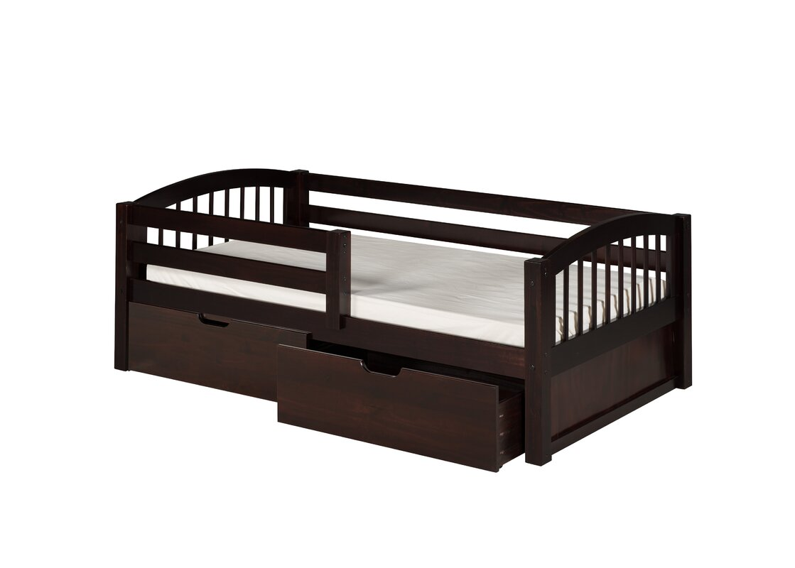 Oakwood Twin Convertible Toddler Bed