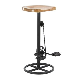 Atalla Industrial Pedal and Gears 32 Bar Stool