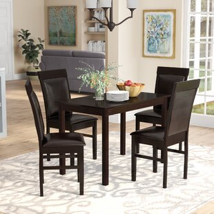 Kisor Modern and Contemporary 5 Piece Breakfast Nook Dining Set